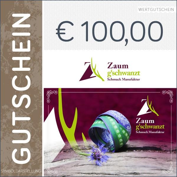100 Euro Gutschein - Zaumgschwanzt