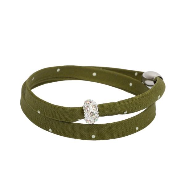 Trachtenarmband Morgentau olivgrün