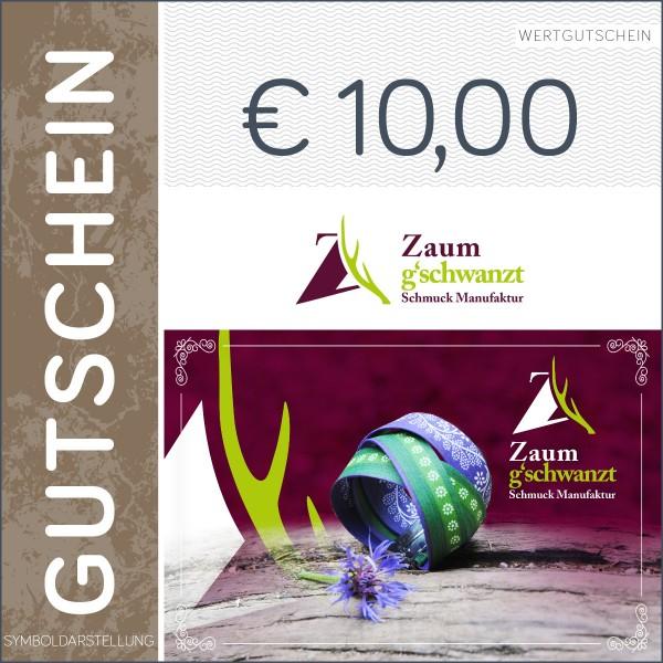 10 Euro Gutschein - Zaumgschwanzt
