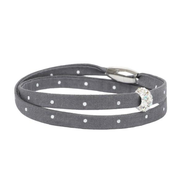 Trachtenarmband Morgentau grau