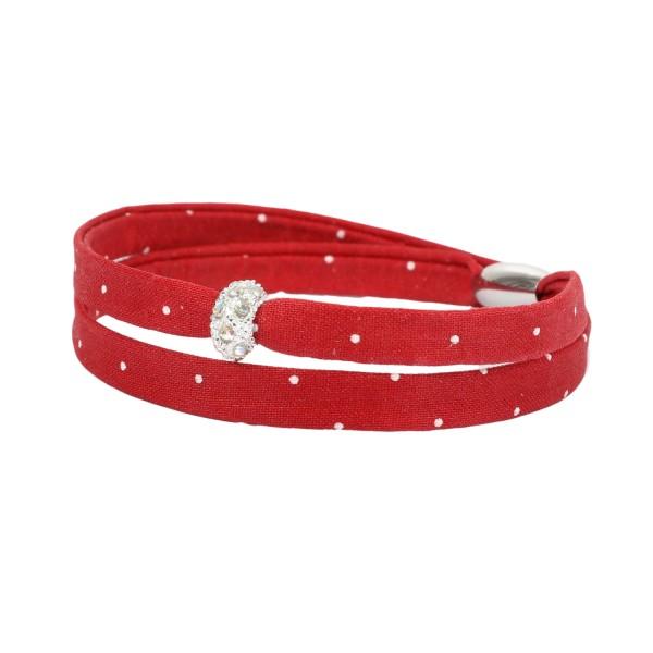 Trachtenarmband Morgentau rot