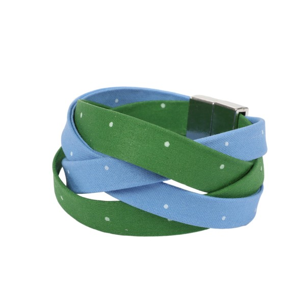 Trachtenarmband Altweibersommer hellblau-maigrün