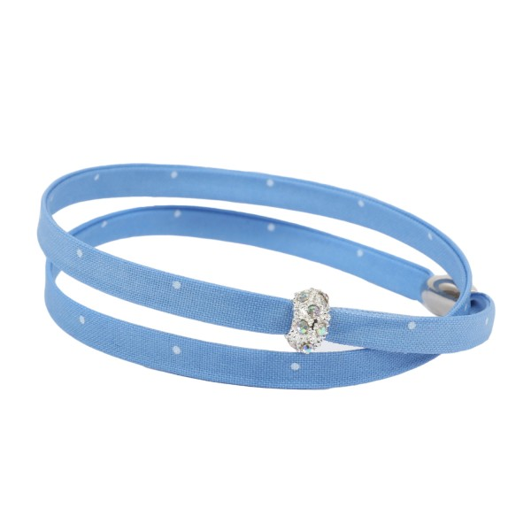 Trachtenarmband Morgentau hellblau