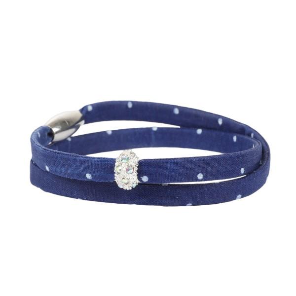Trachtenarmband Morgentau marineblau