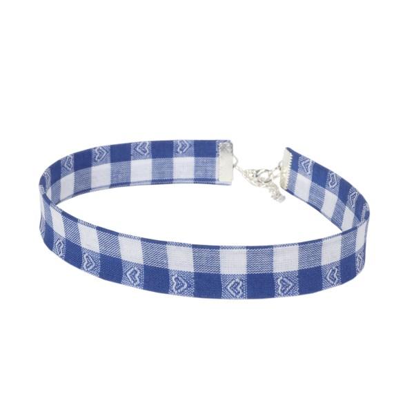 Kropfband bayrisch blau weiß kariert