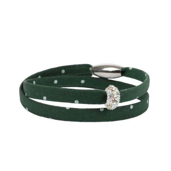 Trachtenarmband Morgentau dunkelgrün